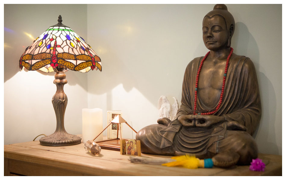 Lamp and Buddha